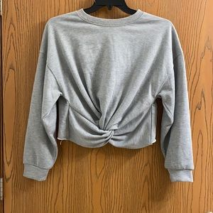 FN front twist cropped sweatshirt